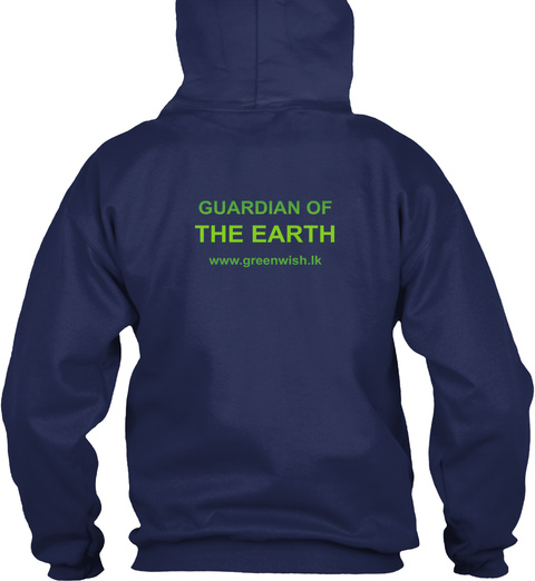 Guardian Of The Earth Navy T-Shirt Back