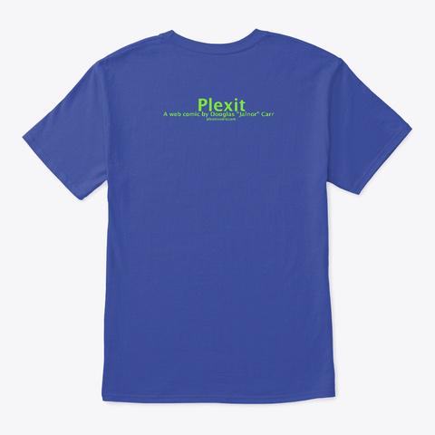 Leaf On A Breeze Deep Royal T-Shirt Back