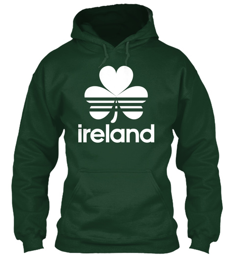 Ireland  Forest Green T-Shirt Front
