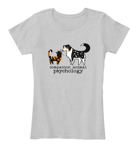 Companion Animal Psychology Light Heather Grey Women's T-Shirt Front