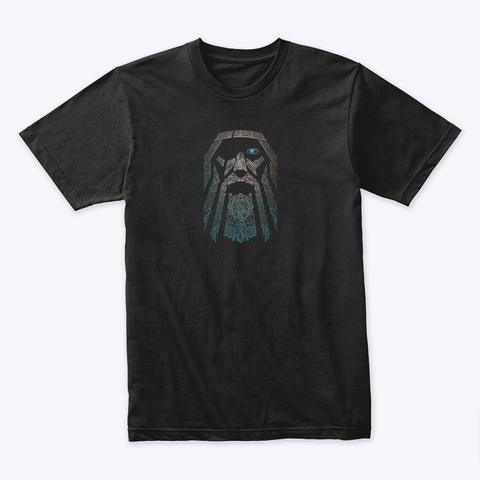 Viking Odin Tee Black T-Shirt Front
