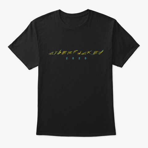 Cyber 2020 Black T-Shirt Front