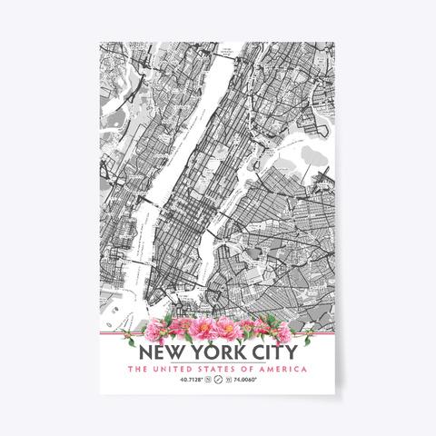 New York City Peony Flowers Standard T-Shirt Front