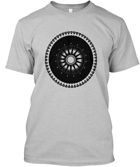 Chaotic Tranquility Light Heather Grey  T-Shirt Front