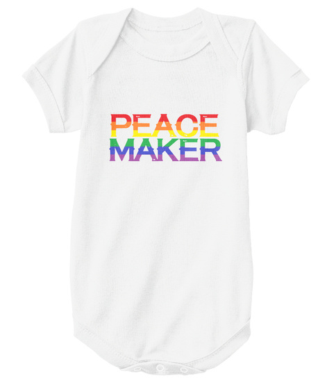 Peace Maker White T-Shirt Front