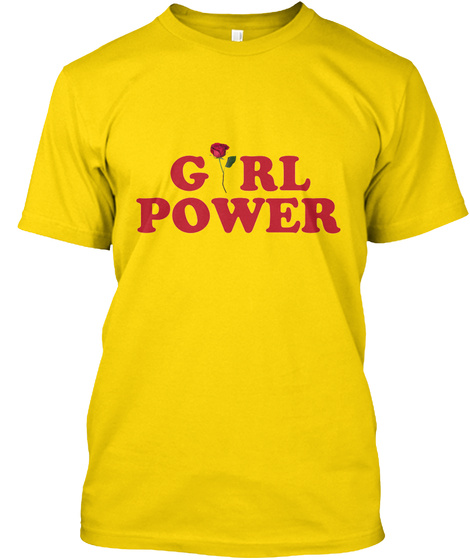 Girl Power   International Women's Day Daisy T-Shirt Front
