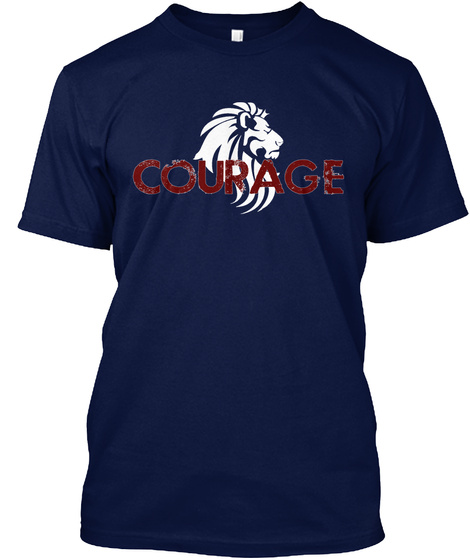 Courage Navy T-Shirt Front
