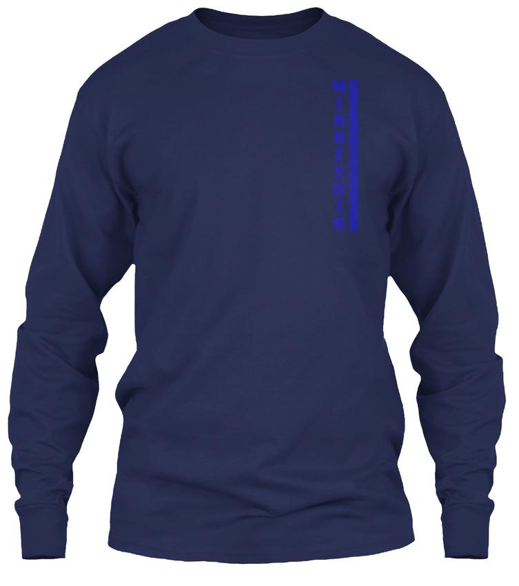 Mn-minnesota-Thin-Blue-Line-Minnesota-Gildan-Long-Sleeve-Tee-T-Shirt thumbnail 8