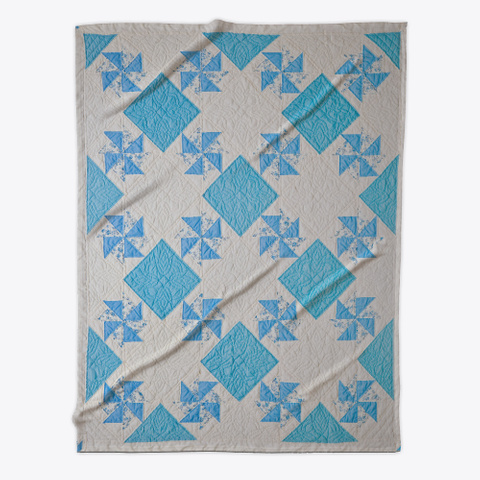 Blue Diamond Quilted Decor Standard T-Shirt Front