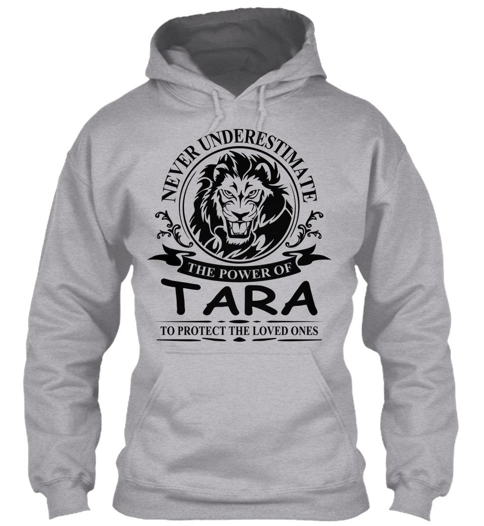 Never Underestimate The Power of Tara Hoodie Black