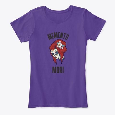 Memento Mori   Candy Skull Calaca Purple T-Shirt Front