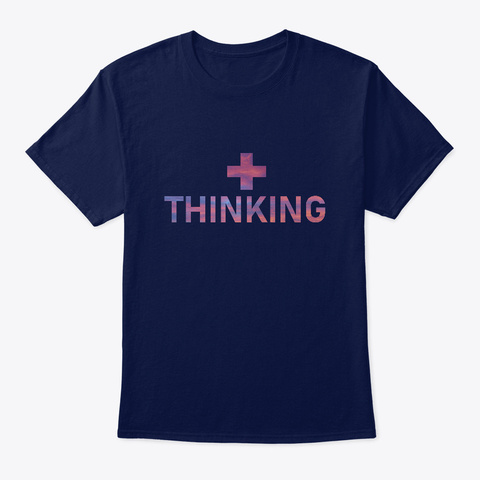 Positive Thinking Navy T-Shirt Front