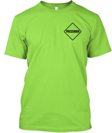Pressman Lime T-Shirt Front