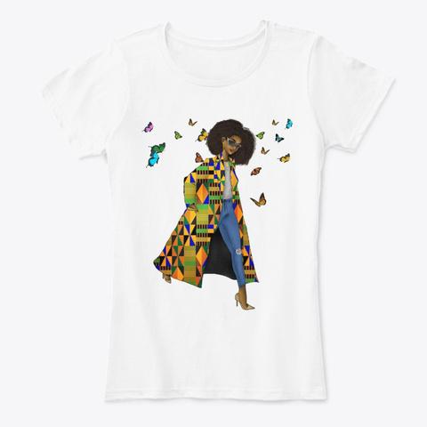 Black Women Art   Keepin It Moving Style White T-Shirt Front