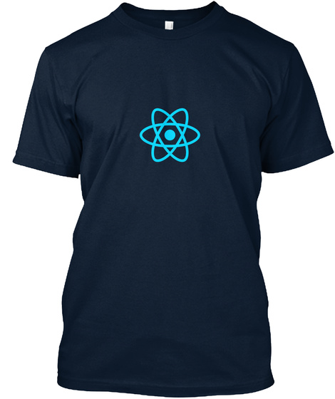 React New Navy T-Shirt Front