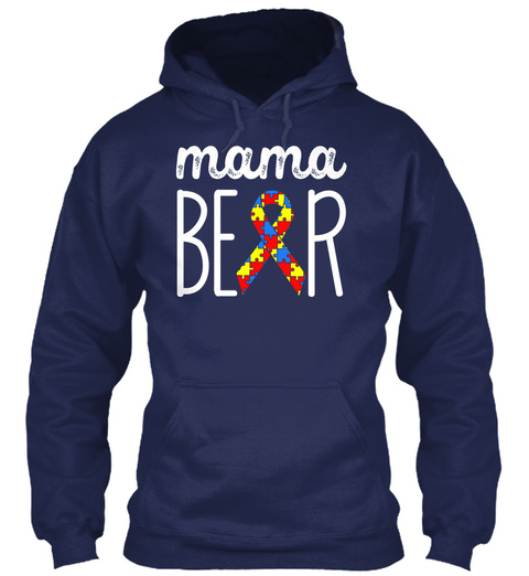 Mama Bear Navy Sweatshirt Front