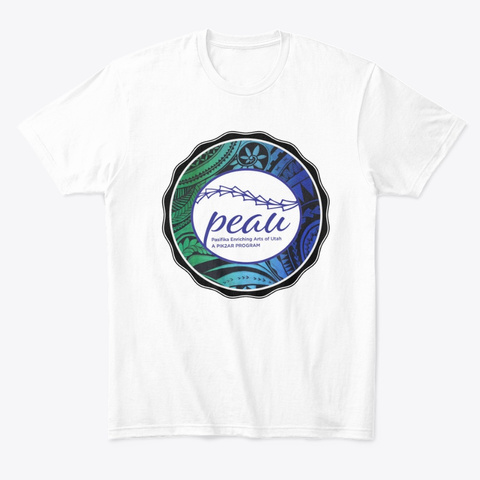 Peau Blue And Green White T-Shirt Front