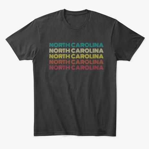 North Carolina Vintage Sunset Pattern Black T-Shirt Front