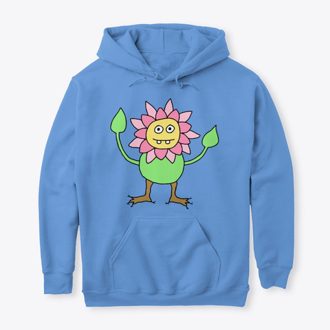 Flower Person   Nature Funny Carolina Blue T-Shirt Front