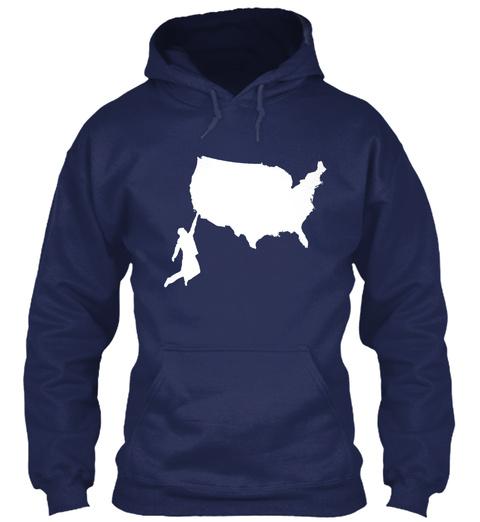 American Climbers T Shirts &Amp; Hoodies Navy T-Shirt Front