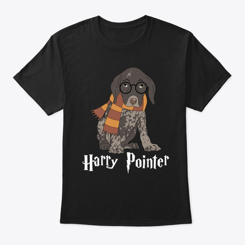 Funny German Shorthaired Pointer Black T-Shirt Front
