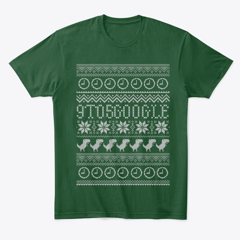 9to5 Google Ugly Holiday Sweater Forest Green  T-Shirt Front