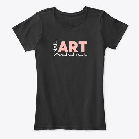 Nail Art Addict Black T-Shirt Front