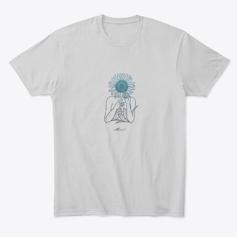 Floral Woman Art Light Heather Grey  T-Shirt Front