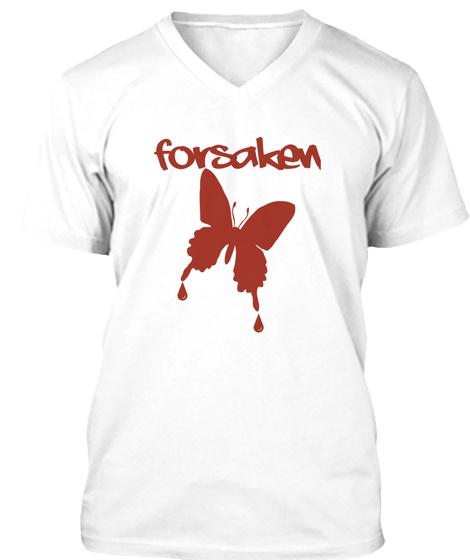 Forsaken White T-Shirt Front