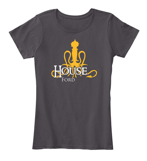 Ford Family House   Kraken Heathered Charcoal  T-Shirt Front