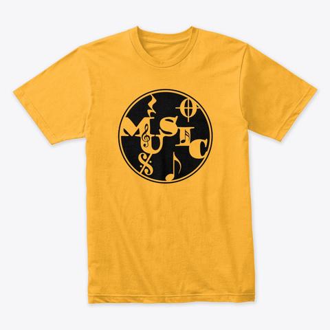 Music Circle Gold T-Shirt Front