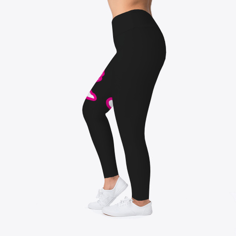 Yoga Pants, Clothes, Black Pink White Black T-Shirt Left