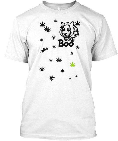 Boo White T-Shirt Front