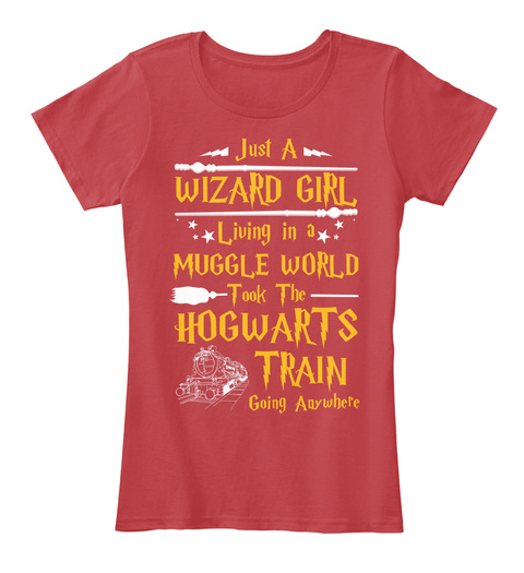 Wizard Girl   Limited Edition Only Classic Red T-Shirt Front