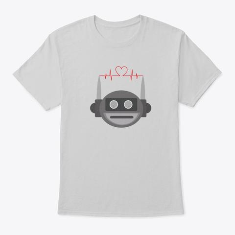 Robot, Radio Love Light Steel T-Shirt Front