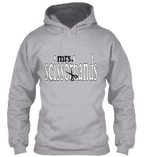 Mrs.  Scissorhands  Sport Grey T-Shirt Front