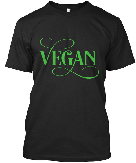 Vegan Black T-Shirt Front