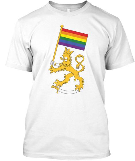 Suomileijona   Pride T Paita White Camiseta Front