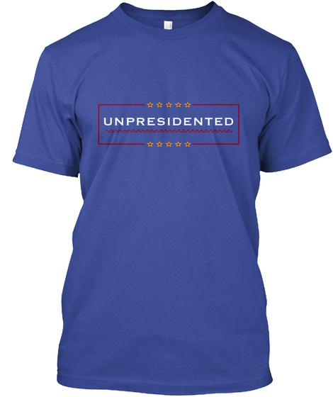 Unpresidented Deep Royal T-Shirt Front