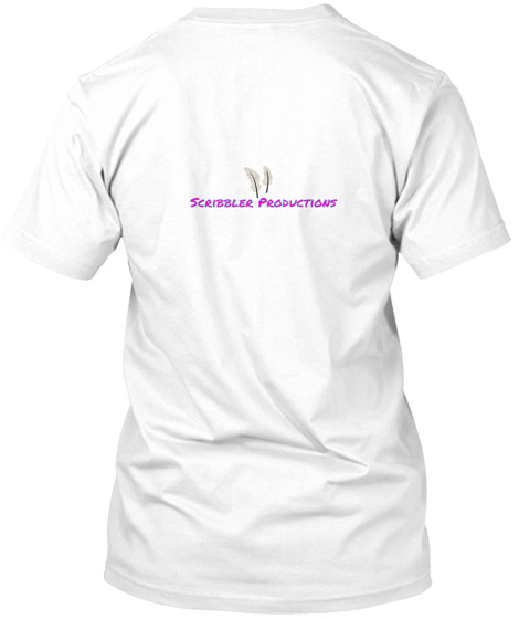 Scribbler Productions White T-Shirt Back