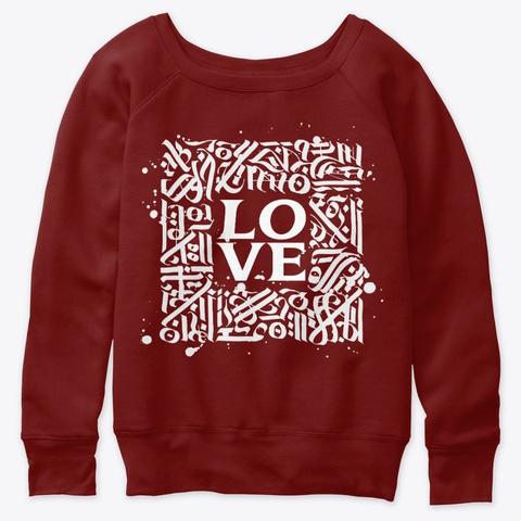 Love Framed Dark Red Triblend T-Shirt Front