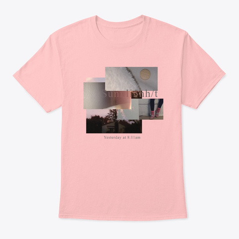 Yesterday At 8:11am (Spironolactone) Pale Pink T-Shirt Front