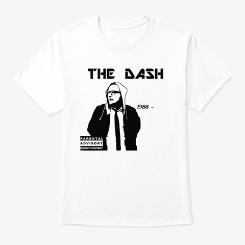 The Dash White T-Shirt Front