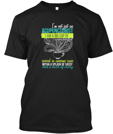 Acupuncturist T Shirt Black T-Shirt Front