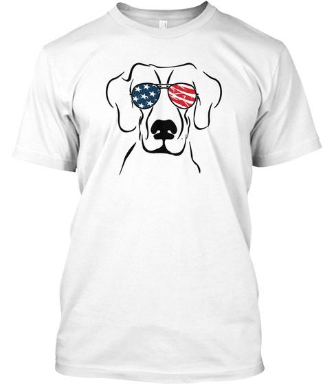 Dog Great Dane Glass Pattern White T-Shirt Front