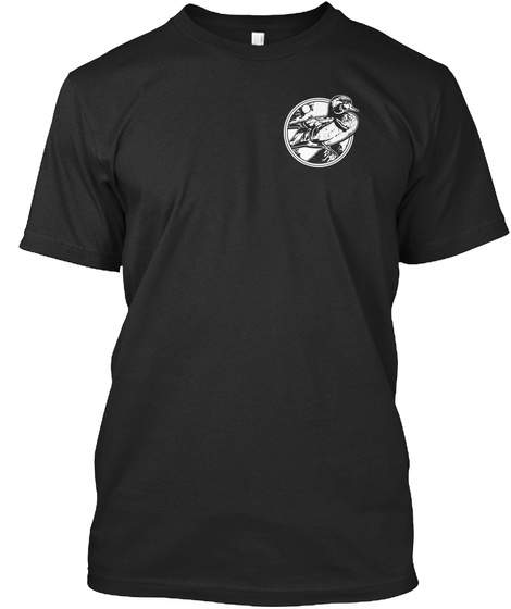 Duck Hunting   Friends Black T-Shirt Front