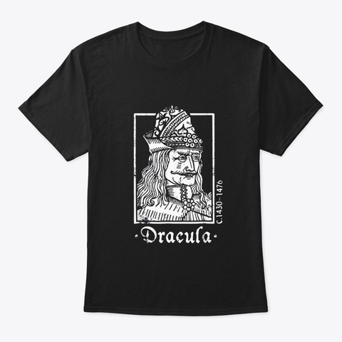 Vlad The Impaler Tshirt Dracula T Shirt Black T-Shirt Front