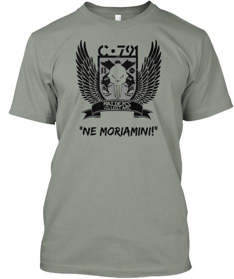 Raiders Lostarc Ne Moriamini! Grey T-Shirt Front