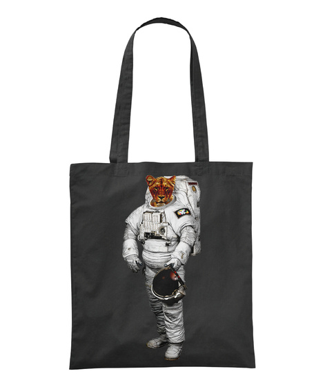 Space Tiger / Tiger Astronaut Black T-Shirt Front