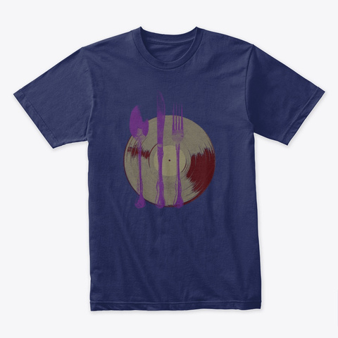 Let's Eat Midnight Navy T-Shirt Front